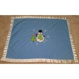 Koala Baby Blue Snowman Christmas Tree Blanket